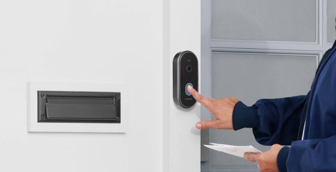 smart wireless ring doorbell camera working